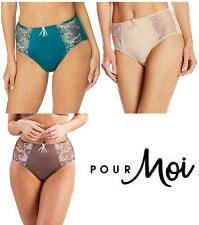 Pour Moi Imogen Rose Embroidered Brief 3804B Latte