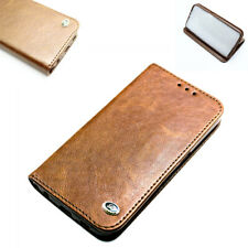 Genuine Leather Card Holder Wallet Flip Case Cover for Samsung Galaxy Phones