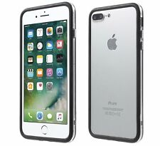 Bumper cover in silicone TPU custodia nera trasparente per Apple Iphone 7 8 Plus