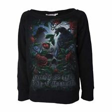 Darkside Clothing Edgar Allan Poe Quoth The Raven Nevermore Black Sweater