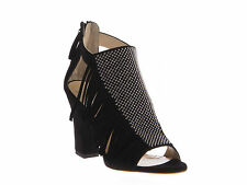 Giuseppe Zanotti high heeled ankle strap sandals in black suede leather