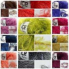 ICE LONG EYELASH Knitting Wool Yarn  2 Balls. 44 colours