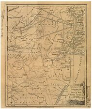 Poster Print Antique American Military Map North