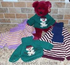 NEW Teddy Bear Sweaters SNOWMAN SOCCER STRIPED Variety Colors Well Wishers???