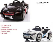 NEW KIDS 12V ELECTRIC RIDE ON BMW I8 TYPE SPORTS COUPE + PARENTAL REMOTE CONTROL