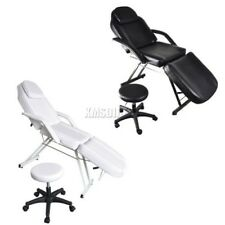 FoxHunter Beauty Salon Chair Massage Table Tattoo Facial Therapy Couch Bed Stool