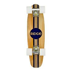 "Ridge 22"" Original Maple Mini Cruiser Skate Board Completo Retro Madera Arce"