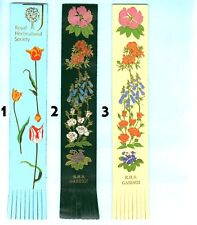 Leather Bookmark RHS Royal Horticultural Society Garend Chelsea Flower Show Book