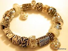 AUTHENTIC PANDORA BRACELET WITH CHARMS SUPER MOM HINGED BOX