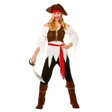 NEW Pirate Shipmate Ladies Caribbean Wicked Adult Fancy Dress Costume Halloween