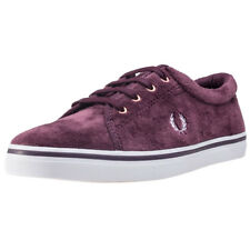 Fred Perry Aubyn Velour Donna Formatori Red Mahogany nuovo Scarpe