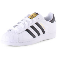 adidas Superstar J Kids White Leather Casual Trainers Lace-up Genuine Shoes
