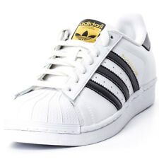 adidas Superstar Unisex White Leather Casual Trainers Lace-up Genuine Shoes