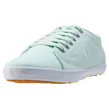 Fred Perry Kingston Twill Femmes Baskets Aqua Neuf Chaussure
