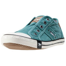 Mustang Laceless Low Top Donna Scivolare Teal nuovo Scarpe