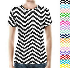 Chevron Stripes Women Cotton Blend T-Shirt All-Over-Print