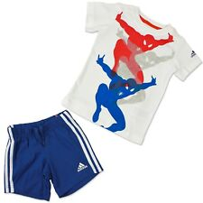 ADIDAS + MARVEL BABY KINDER SOMMER SET ANZUG SPIDERMAN HOSE + T-SHIRT SPINNE