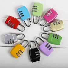 Resettable 3Digit Combination Lock Travel Luggage Suitcase Security Code Padlock