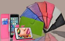Slim Leather Flip Wallet Card Magnetic Stand Case Cover For iPhone SE 6 6S Plus