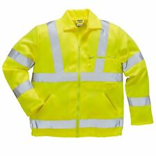HI VIS Safety Jacket Coat Durable Zip Pockets High Visibility Workwear E040