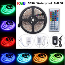 5M RGB 5050SMD 300LED IMPERMEABLE tira luces remoto Waterproof Bada lámpara