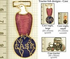 Case tractor decorative fobs, various designs & keychain options