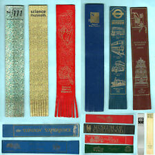 Leather Bookmark London Transport Imperial War Museum Bus V&A Book Souvenir Gift