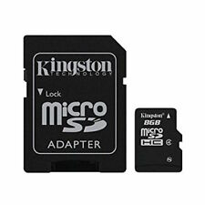 8 GB MicroSDHC Micro SD Speicherkarte mit SD-Adapter Kingston Class 4 Highspeed