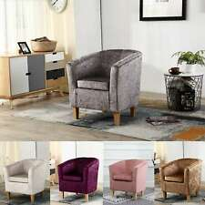 FoxHunter Crush Velvet Fabric Tub Chair Armchair Lounge Living Room Office TC12