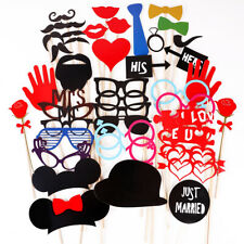 "Set Accesorios para Photocalls party set Boda ""JUST MARRIED"" Photo Booth Props"