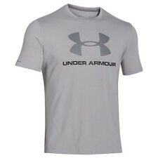 UNDER ARMOUR CHARGED COTTON SPORTSTYLE LOGO T-SHIRT GRAY BLACK 1257615-025