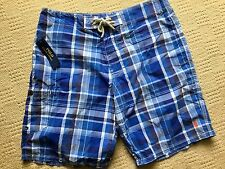 RALPH LAUREN POLO BLUE CHECK LONG SHORTS BRAND NEW WITH TAGS