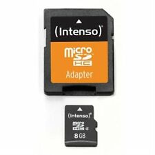 8 GB MicroSDHC Micro SD Speicherkarte mit SD-Adapter Intenso Class 4 Highspeed