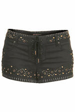BNWT Topshop Studded Denim Shorts Hotpants by Kate Moss, RRP £50, Sizes 8 & 12