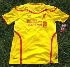 FC LIVERPOOL Jersey Maillot Camiseta S XL WARRIOR Amarillo Hombre/Hombre Anfield
