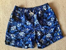 RALPH LAUREN POLO BLUE PATTERN SWIM SHORTS BRAND NEW WITH TAGS