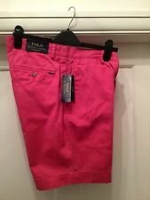 RALPH LAUREN POLO MENS BRIGHT PINK CLASSIC FIT DRESS SHORTS BNWT