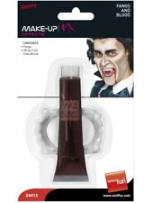 NEW Vampire Blood 28ml Tube With Fangs Halloween Fancy Dress Costume Accessories