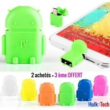 Adattatore OTG HOST ROBOT ANDROID Lettore CHIAVE USB per Samsung Sony HTC Wiko …