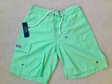 RALPH LAUREN POLO LIGHT GREEN LONG SWIM SHORTS BRAND NEW WITH TAGS