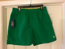 RALPH LAUREN POLO GREEN SWIM SHORTS BRAND NEW WITH TAGS