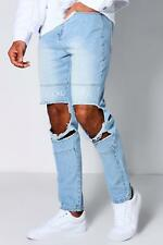 Boohoo Embroidered Unfollow Disorder Skinny Jeans para Hombre