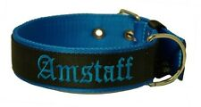 COLLARE NYLON Am Staff - AMERICAN STAFFORDSHIRE TERRIER COLLARE NERO / Blu