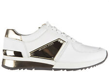MICHAEL KORS SCARPE SNEAKERS DONNA IN PELLE NUOVE ALLIE BIANCO B3D