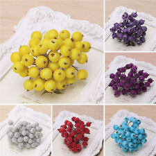 40pcs DIY Mini Christmas Foam Frosted Fruit Artificial Holly Berry Flower Decors
