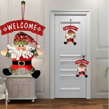 Snowman Santa Claus DIY Door Hanging Christmas Tree Xmas Home Ornaments Decor