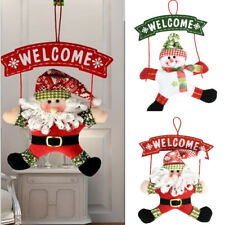 Santa Claus Snowman Christmas Door Hanging Home Decor Xmas Tree Ornaments Gift