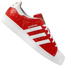 premium selection 9f3e8 dd531 Adidas Originals Superstar Animal S75158 Trainers Shoes Ostriches Leather  Red