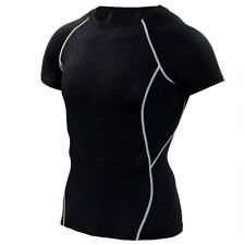 Quick Dry Slim Fit Tees Men Printed T-Shirts Compression Shirt Tops Bodybuilding