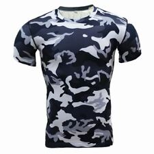 Base Layer Camouflage T Shirt Fitness Tights Quick Dry Camo T Shirts Tops & Tees